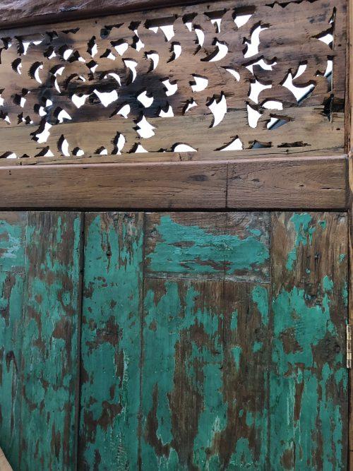 Ahma handgefertigte Holztuer mit Zierbekleidung