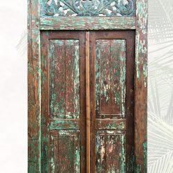 """Soelfan"" antike Tür in grün | Vintage"