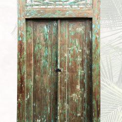 """""""Slamet"""" schöne alte Tür grün"""
