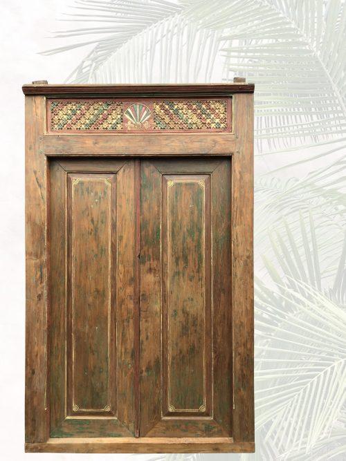 """""""Citra"""" antike Tür mit farbigen Akzenten"""