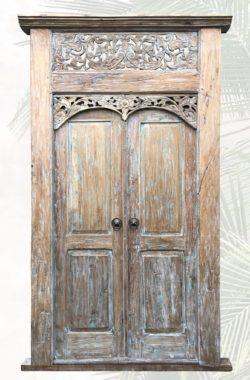 alte Tür Sari aus Teakholz
