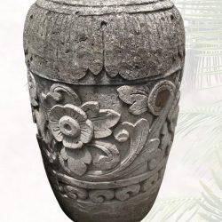 geschnitzte Steinvase|Brunnen für den Garten