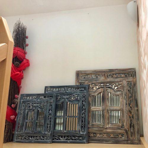 Fenster mit Spiegel 50x60 Blau