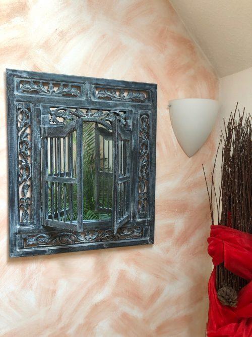 piegelfenster 60x70 cm Blau