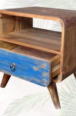 Nachttisch Regal aus altem Teakholz Vintage