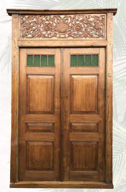 """""""Iskandar"""" antike Tür mit Glaseinsatz"""