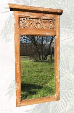 Spiegel mit Teakholzrahmen