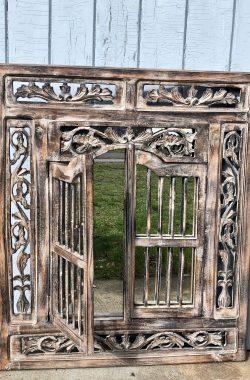 Spiegelfenster Spiegel zum Aufklappen in Braun 60x70cm