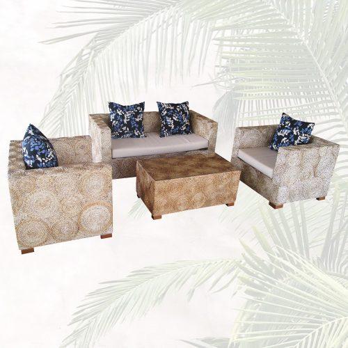 Sitzgruppe-Lounge-Set-Sofa-und-Sessel-Handarbeit