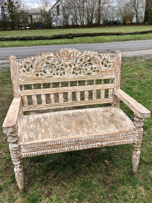 antike Bank grosser Sessel Unikat