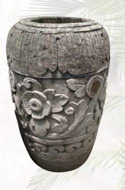 geschnitzte Steinvase Brunnen Garten Amphore